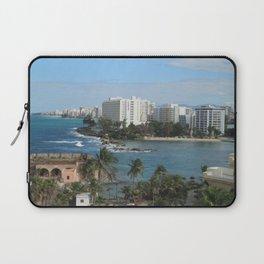 San Geronimo Fortress and view of Condado, San Juan, Puerto Rico Laptop Sleeve