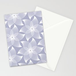 Pale flower pattern Stationery Cards