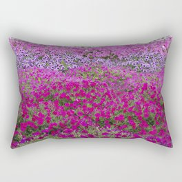 Waves of color on a sea of Petunias Rectangular Pillow