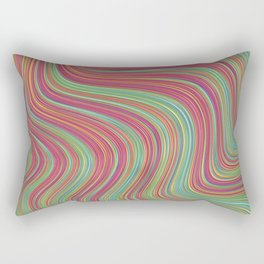 OLEANDER trails of fuschia red grass green abstract Rectangular Pillow