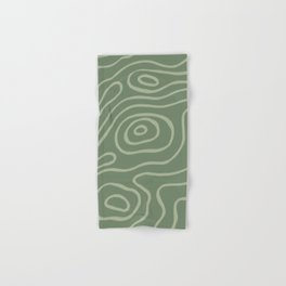 Topographic Map / Grayish Green Hand & Bath Towel