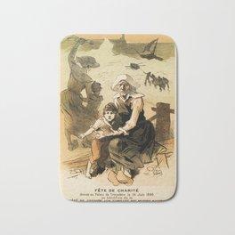 1890 Drowned fishermen charity ball by Chéret Bath Mat