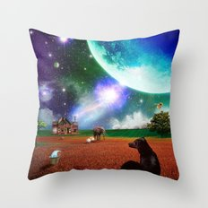 A Most Unusual Evening Throw Pillow