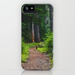Green Forest Path (Color) iPhone Case