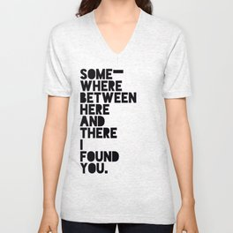 Here & There Unisex V-Neck