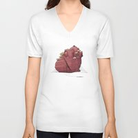 lonely V-neck T-shirts featuring Lonely by Dacia Fugere