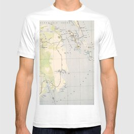 Vintage Map of Roanoke Island & Outer Banks NC T-shirt