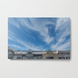 feather clouds Metal Print