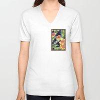 tiki V-neck T-shirts featuring Tiki Talk by Vikki Salmela