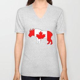 """Goat """"Canada"""" Unisex V-Neck"""