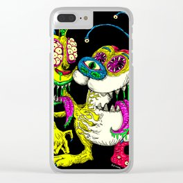 Monster Friends Clear iPhone Case