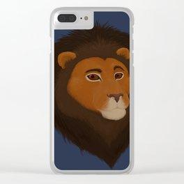 Dark Lion Clear iPhone Case