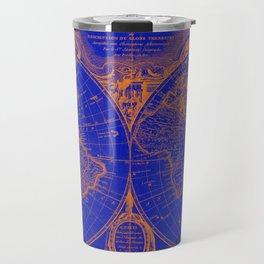World Map (1775) Blue & Orange Travel Mug