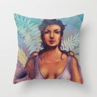 roman Throw Pillows featuring Roman by ashurcollective