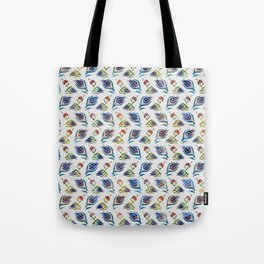 Turkish tulip - Ottoman tile pattern 1 Tote Bag