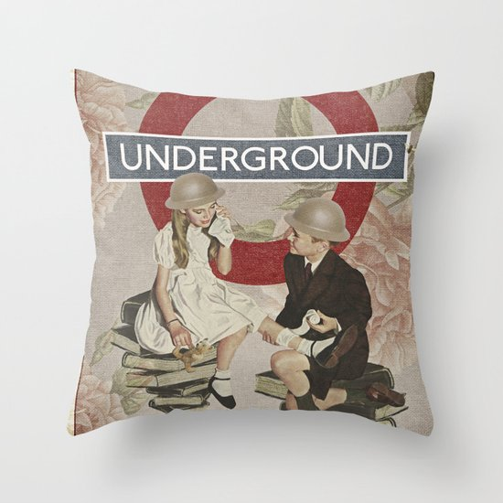 The Underground Throw Pillow