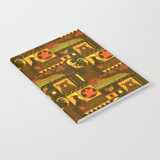 Fall Square Notebook