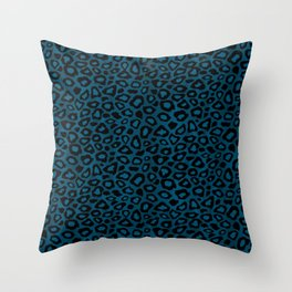 Teal Leopard Animal Pattern Throw Pillow