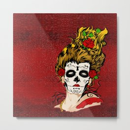 The Dead Skull Face Painting Metal Print
