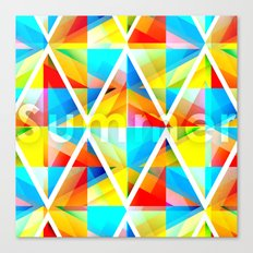 Summer Triangles Canvas Print