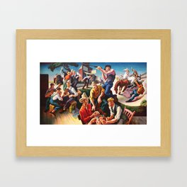 Classical Masterpiece 'Arts of the West' by Thomas Hart Benton Framed Art Print