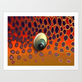 Brown Trout Eye Art Print
