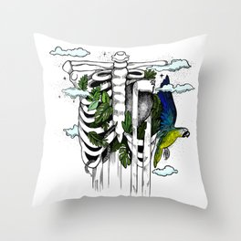 Dreams flowing throught my heart Throw Pillow