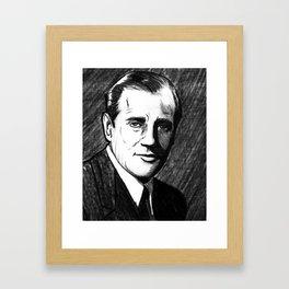 "Portrait of Benjamin ""Bugsy"" Siegel (3) Framed Art Print"