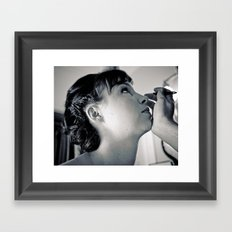 Painting the bride Framed Art Print