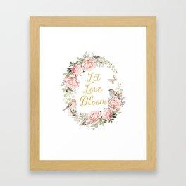 Let love bloom Framed Art Print