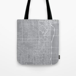 Scottsdale Map, Arizona USA - Pewter Tote Bag