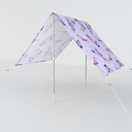 Lilac Flamingo Toille Sun Shade