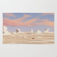 egyptian Area & Throw Rugs featuring Egyptian desert by David Pavon