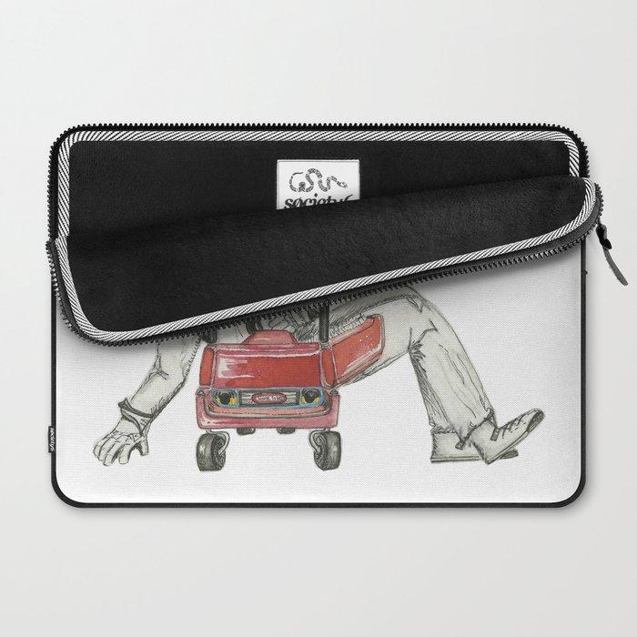 Stig Test Drives Nostalgic Cozy Coupe Little Tyke Car Laptop Sleeve