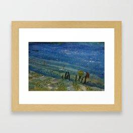 blinking sea Framed Art Print