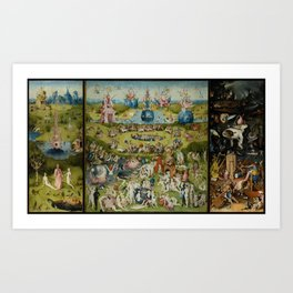 The Garden Of Earthly Delights (Extreme High Quality) Art Print