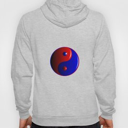 Red And Blue Yin and Yang Hoody