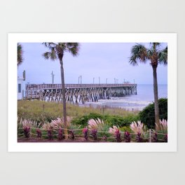 The Last Day Of The Surfside Pier Art Print