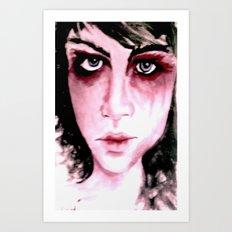 Blue Grey Eyes Art Print
