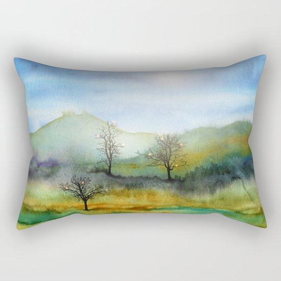 Christmas In The Woods Rectangular Pillow