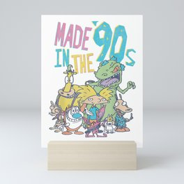 Nickelodeon Made In the 90s Character T-Shirt Mini Art Print