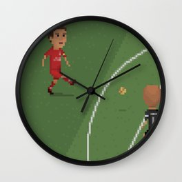 Gerrard vs Olympiakos Wall Clock