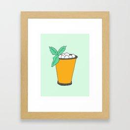 Summer Cocktail - Mint Julep Framed Art Print