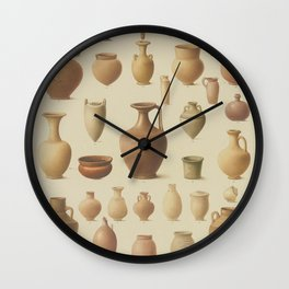 EGYPTIAN Antique VASES Wall Clock