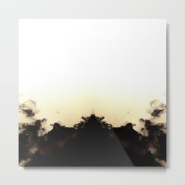 White Burst Metal Print