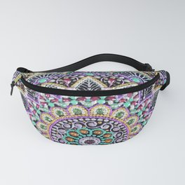 Purple flower mandala Fanny Pack