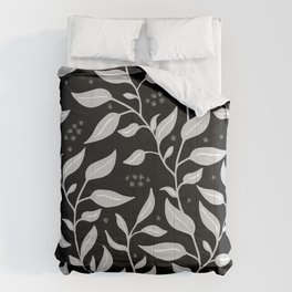 Contemporary Graphic Art Design Leaves Pattern Comforters