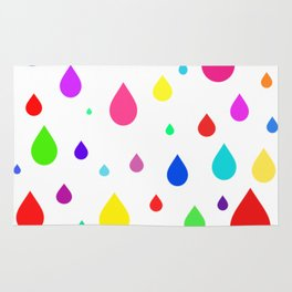 colorful raindrops Rug
