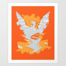 River Phoenix - Autumn Art Print