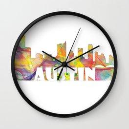 Austin Texas Skyline MCLR 2 Wall Clock